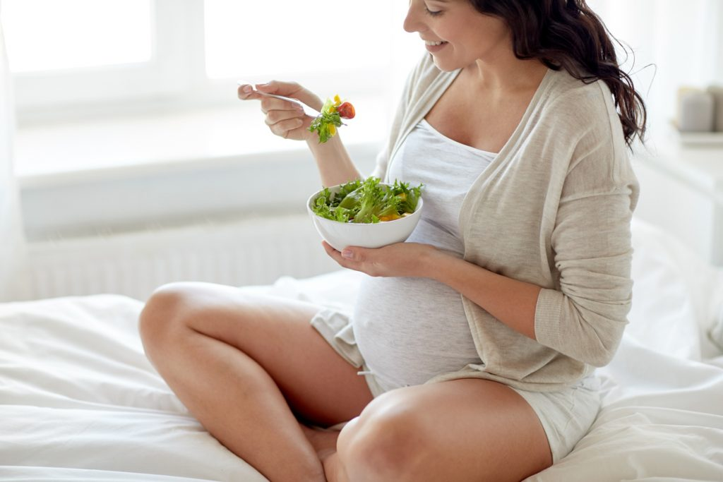 Dieta para una mujer embarazada con sobrepeso
